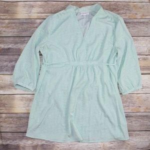 Liz Lange Maternity Mint Green V Neck Blouse